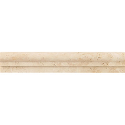 Daltile Travertine Natural Stone Polished Chair Rail Mediterranean Ivory Tile & Stone