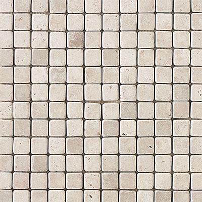 Daltile Travertine Natural Stone Honed Mosaics 1 x 1 Baja Cream Tile & Stone