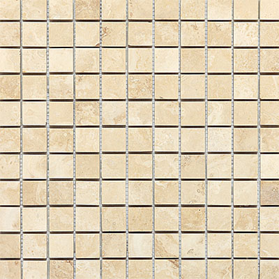 Daltile Travertine Natural Stone Honed Mosaics 1 x 1 Mediterranean Ivory Tile & Stone