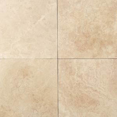Daltile Travertine Natural Stone Honed 24 x 24 Mediterranean Ivory Tile & Stone