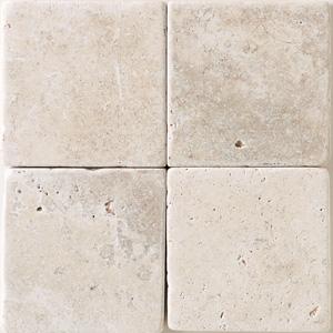 Daltile Tumbled Natural Stone 4 x 4 Baja Cream Tile & Stone