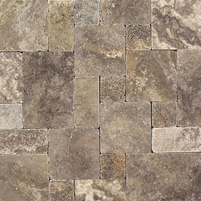Daltile Tumbled Natural Stone Paredon Pattern (Large Format) Andes Gray Blend Tile & Stone