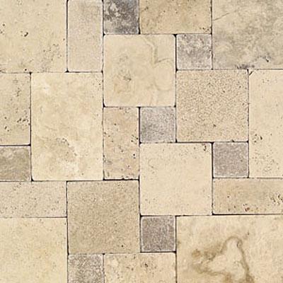 Daltile Tumbled Natural Stone Paredon Pattern (Large Format) Peruvian Cream Blend Tile & Stone