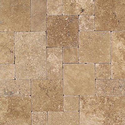 Daltile Tumbled Natural Stone Paredon Pattern (Large Format) Inca Brown Tile & Stone
