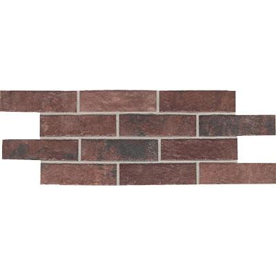 Daltile Union Square 4 x 8 Paver Courtyard Red Tile & Stone