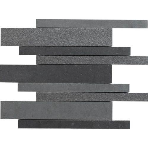 Daltile Unity Polished Random Linear Mosaic Nero Tile & Stone