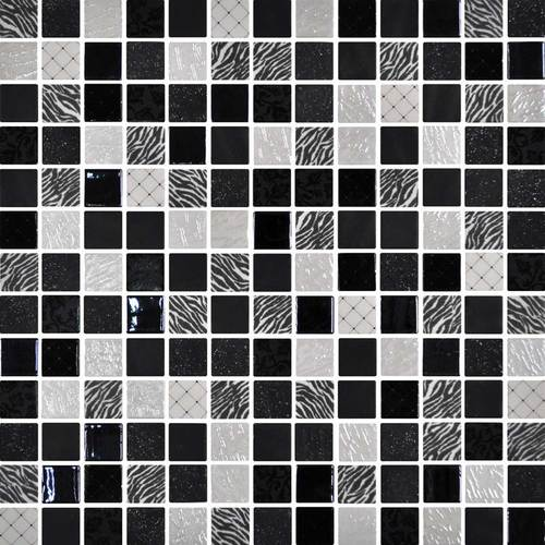 Daltile Uptown Glass Mosaics Exotic Black (Wall) Tile & Stone