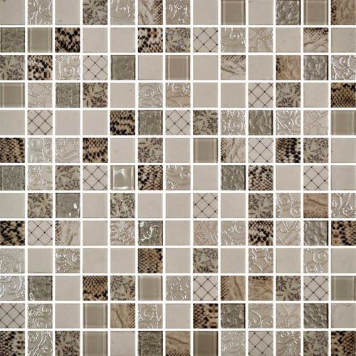 Daltile Uptown Glass Mosaics Exotic Ivory (Wall) Tile & Stone