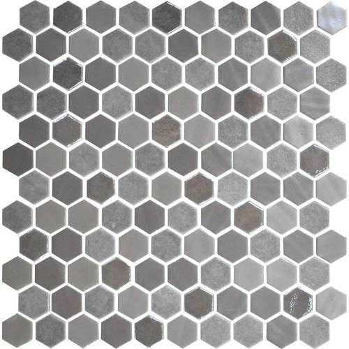Daltile Uptown Glass Mosaics Hexagon Frost Moka (Wall) Tile & Stone