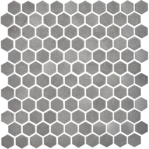 Daltile Uptown Glass Mosaics Hexagon Matte Frost Moka (Floor) Tile & Stone