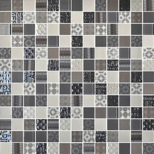 Daltile Uptown Glass Mosaics Metro Taupe (Wall) Tile & Stone