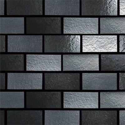 Daltile Urban Metals Brick Joint Gunmetal Tile & Stone