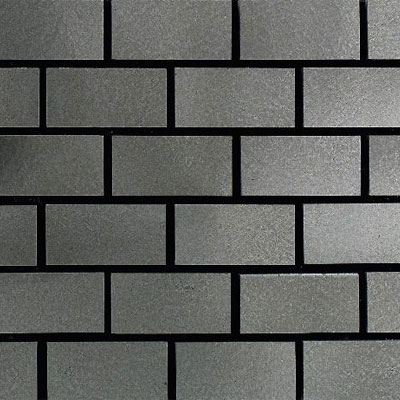 Daltile Urban Metals Brick Joint Stainless Brick Joint Tile & Stone