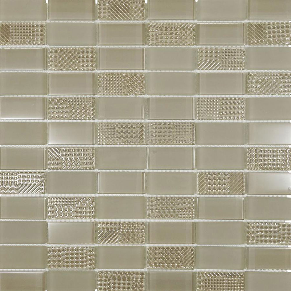 Diamond Tech Glass Captiva 1 x 2 Stacked Mosaic Oyster Shell (Sample) Tile & Stone