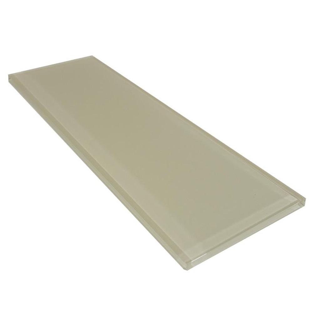 Diamond Tech Glass Captiva 4 x 12 Oyster Shell (Sample) Tile & Stone