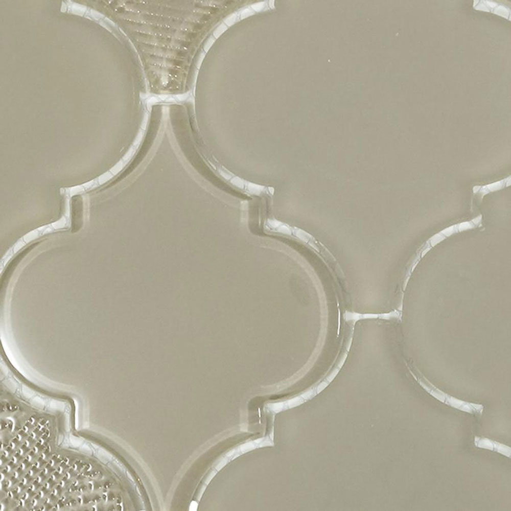 Diamond Tech Glass Captiva Arabesque Mosaic Oyster Shell (Sample) Tile & Stone