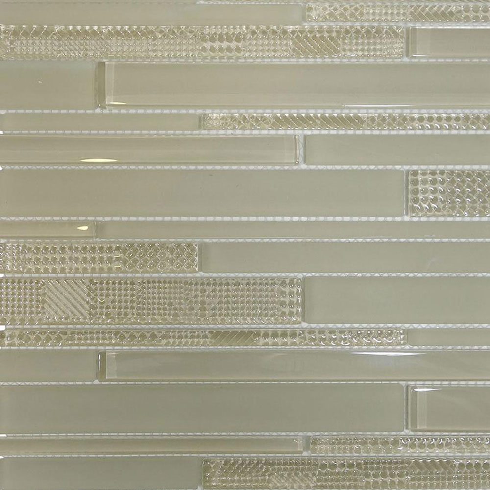 Diamond Tech Glass Captiva Random Link Mosaic Oyster Shell (Sample) Tile & Stone