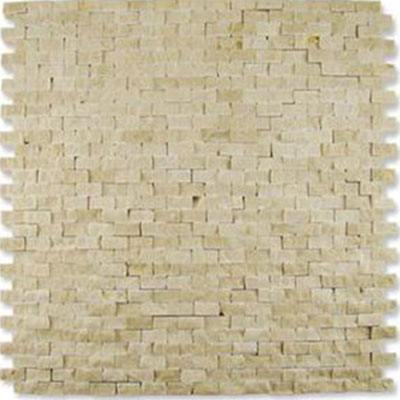 Diamond Tech Glass Contours Classical Random Brick Chiseled Mosaic Crema Marfil (Sample) Tile & Stone