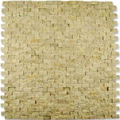 Diamond Tech Glass Contours Classical Random Brick Chiseled Mosaic Light Emperador (Sample) Tile & Stone