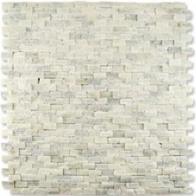 Diamond Tech Glass Contours Classical Random Brick Chiseled Mosaic Statuary White (Sample) Tile & Stone