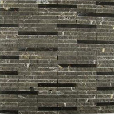 Diamond Tech Glass Contours Ionic Linear Polished & Chiseled Dark Emperador (Sample) Tile & Stone