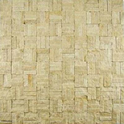 Diamond Tech Glass Contours Tuscan Parquet Chiseled Light Emperador (Sample) Tile & Stone