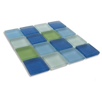 Diamond Tech Glass Frosted Dimension Mosaic 1 x 1 Mixes Tranquility (Sample) Tile & Stone