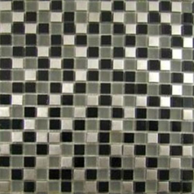 Diamond Tech Glass Impact 5/8 Glass & Stone & Metal Mosaic Nocturne (Sample) Tile & Stone