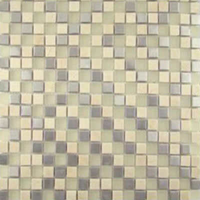 Diamond Tech Glass Impact 5/8 Glass & Stone & Metal Mosaic Cirrus (Sample) Tile & Stone