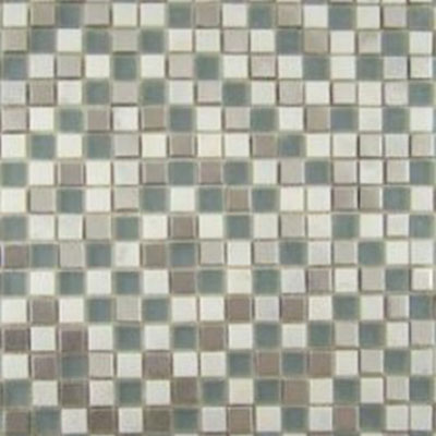 Diamond Tech Glass Impact 5/8 Glass & Stone & Metal Mosaic Storm (Sample) Tile & Stone