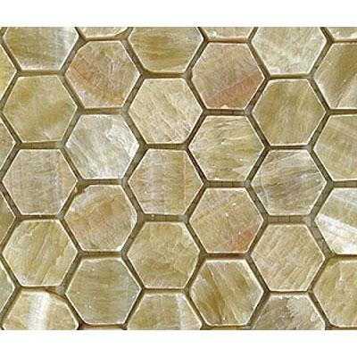 Diamond Tech Glass Marble Series Hexagon Tumbled Mosaic Honey Onyx Tile & Stone