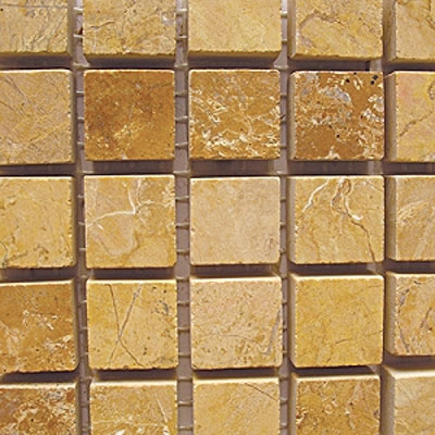 Diamond Tech Glass Marble Series 5/8 Honed Mosaic Gold Travertine Tile & Stone