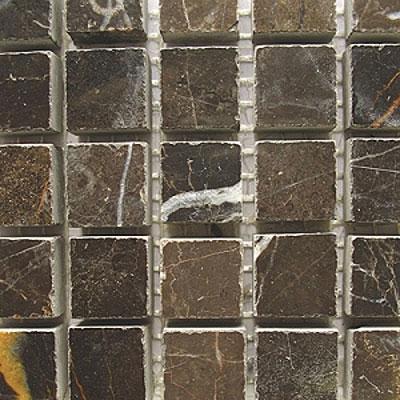 Diamond Tech Glass Marble Series 5/8 Polished Mosaic Emperador Dark Tile & Stone