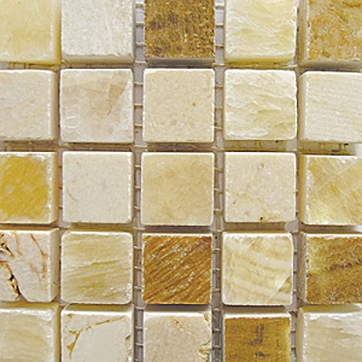 Stone mosaic floor tile