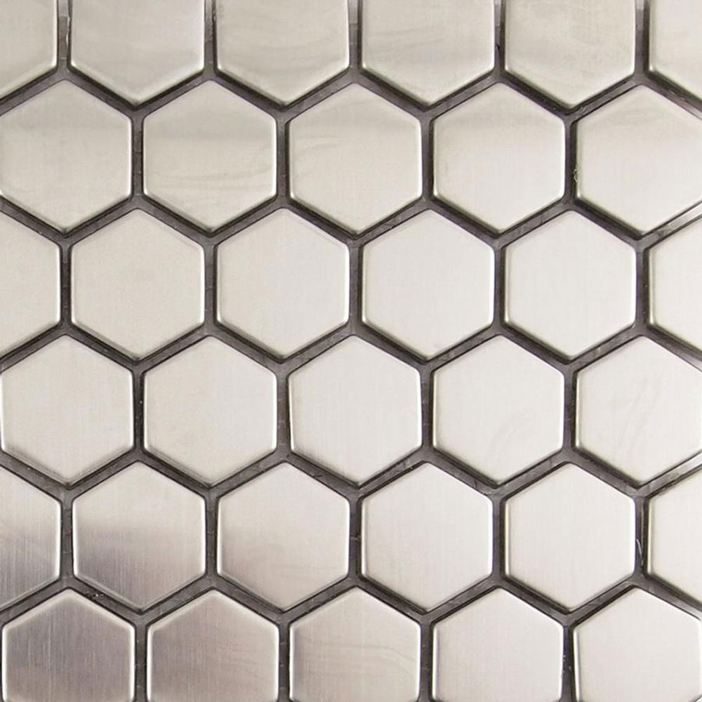 Diamond Tech Glass Metal Series Mosaic Small Hexagon (Sample) Tile & Stone