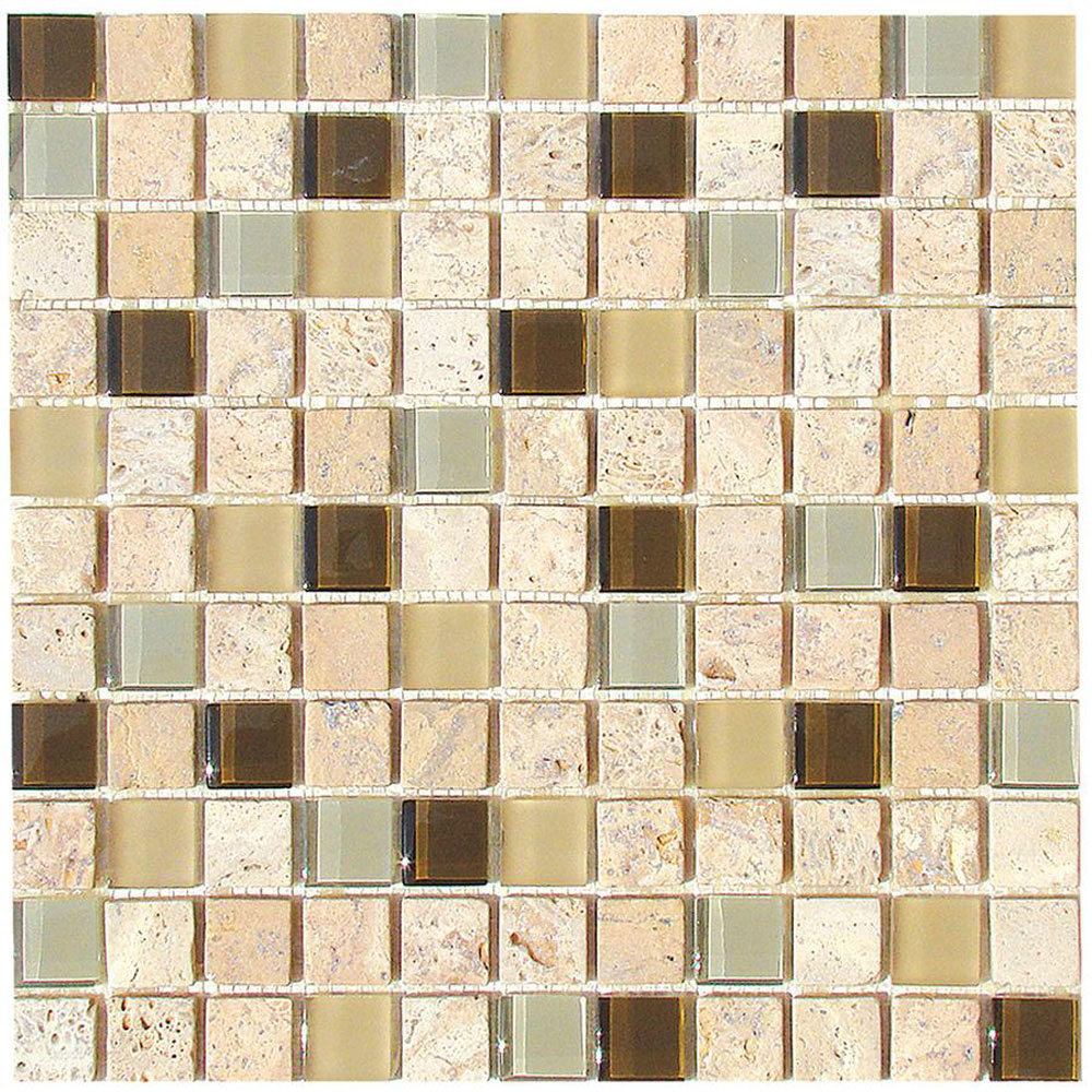 Diamond Tech Glass Travertine & Glass Mixes Fennel (Sample) Tile & Stone
