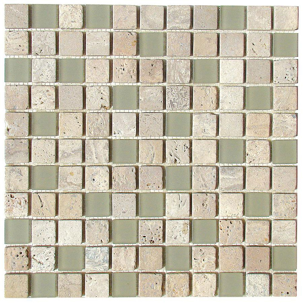 Diamond Tech Glass Travertine & Glass Mixes Fossil (Sample) Tile & Stone
