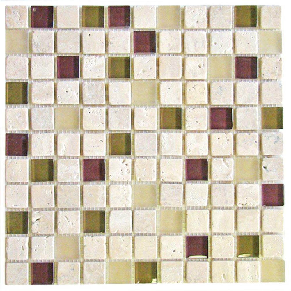 Diamond Tech Glass Travertine & Glass Mixes River Rouge (Sample) Tile & Stone