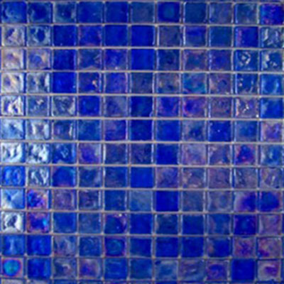 Diamond Tech Glass Vista 3/4 x 3/4 Iridescent Mosaic Liberty Blue (Sample) Tile & Stone