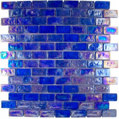 Diamond Tech Glass Vista 3/4 x 1 5/8 Iridescent Mosaic Liberty Blue (Sample) Tile & Stone