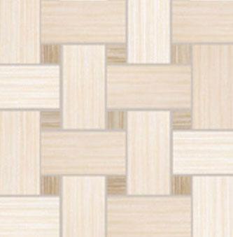 Dom Ceramiche Canvas 13 x 13 Basket Weave Mosaic Cream / Beige Tile & Stone
