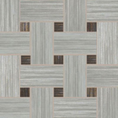 Dom Ceramiche Canvas 13 x 13 Basket Weave Mosaic Grey / Black Tile & Stone