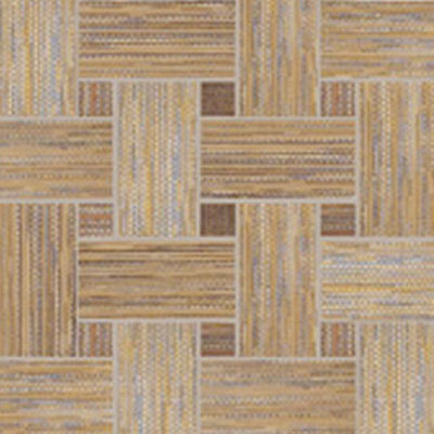 Dom Ceramiche Canvas 13 x 13 Basket Weave Mosaic Red / Gold Tile & Stone