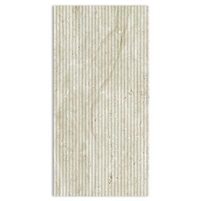 Eleganza Tiles Classic Travertino 12 x 24 Polished Wall Fluted Field Tile & Stone