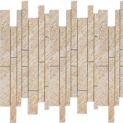 Eleganza Tiles Digiquartz 6 x 18 Mosaic Fascia Muretto Luxor Beige Tile & Stone