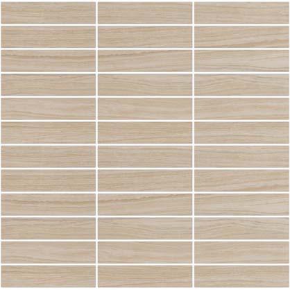 Eleganza Tiles Layers Mosaic Matte (1 x 4) Bianco Tile & Stone