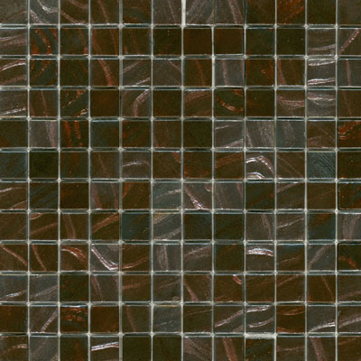 Elida Ceramica Recycled Glass Earth Mosaic Copper Leaf Tile & Stone