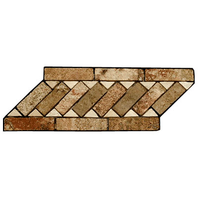 Stone Collection Mexican Travertine Decorative Borders Cheryl Tile & Stone