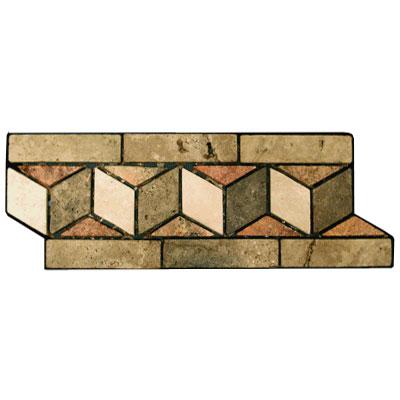 Stone Collection Mexican Travertine Decorative Borders Chevron Tile & Stone