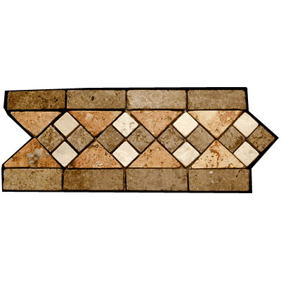 Stone Collection Mexican Travertine Decorative Borders Heather Tile & Stone